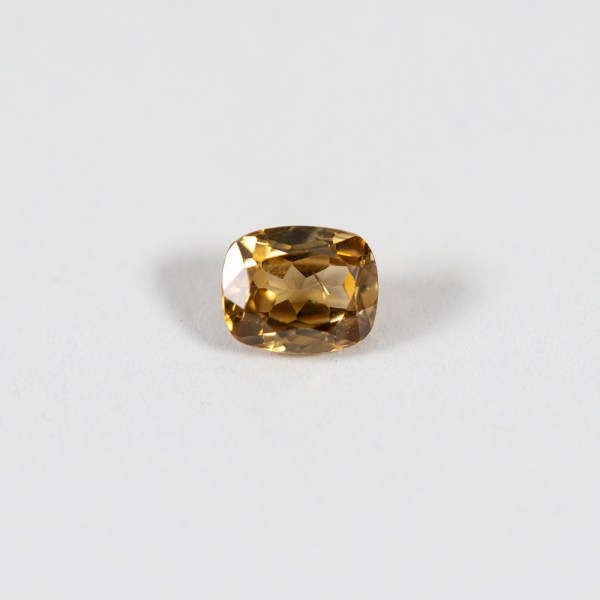 Ethical Cushion Cut Golden Yellow Australian Zircon|Lisa Rothwell-Young