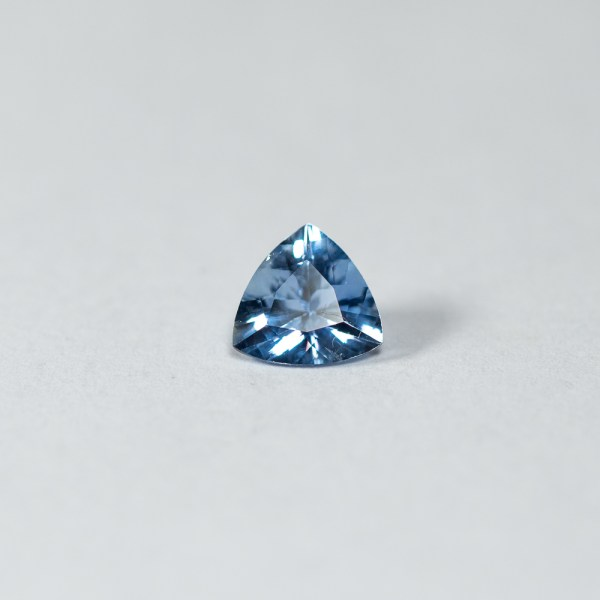 Ethical Trillion Shaped Blue Sapphire|Lisa Rothwell-Young
