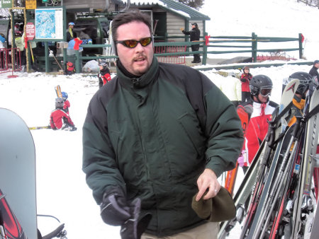 Chris ready to hit the slopes