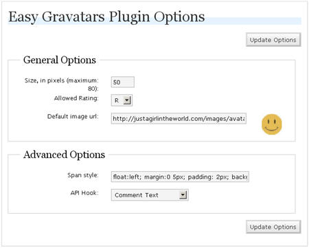 Easy Gravatars Plugin for WordPress by Dougal Campbell