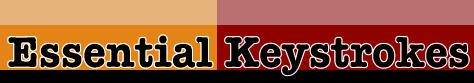 essential keystrokes, char polanosky, e.webscapes blog designers