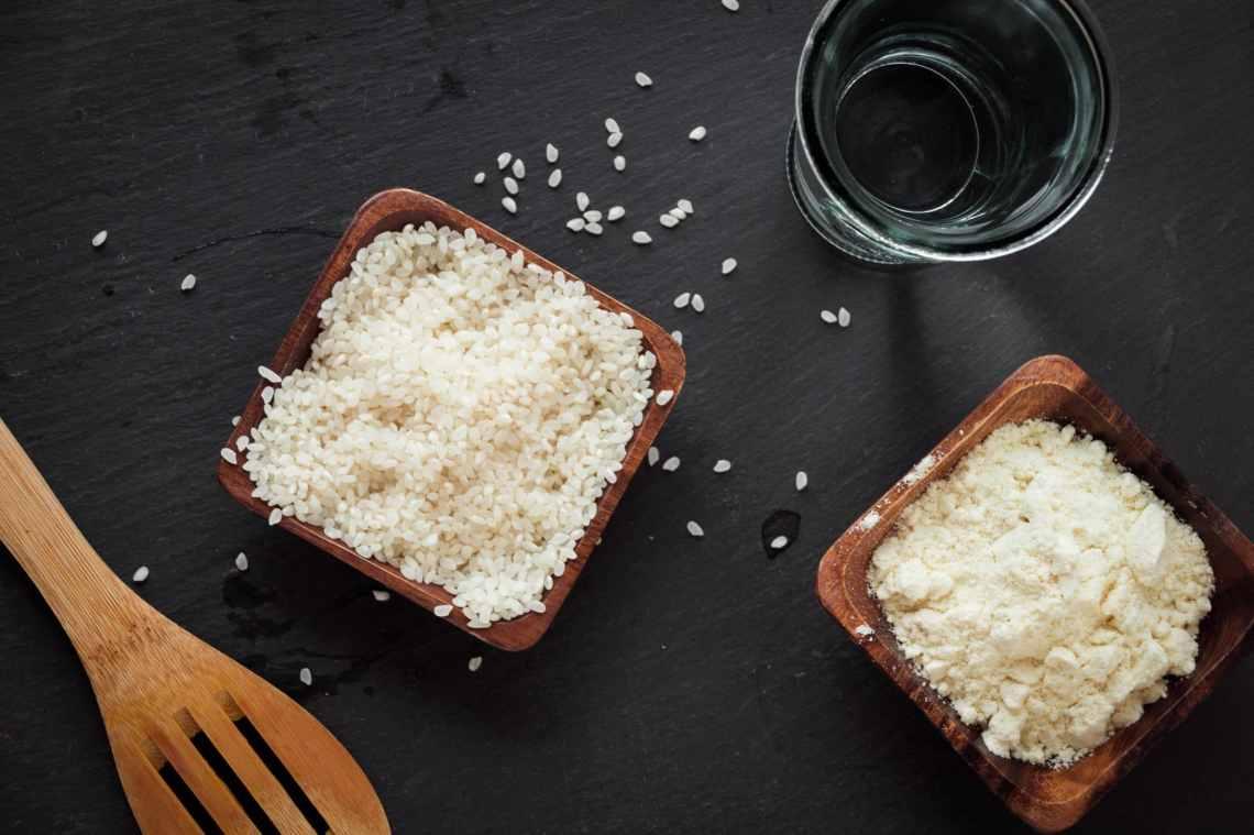Zutaten für einen leckeren, gesunden, Protein-Milchreich. Ideal für Fitnessbegeisterte!