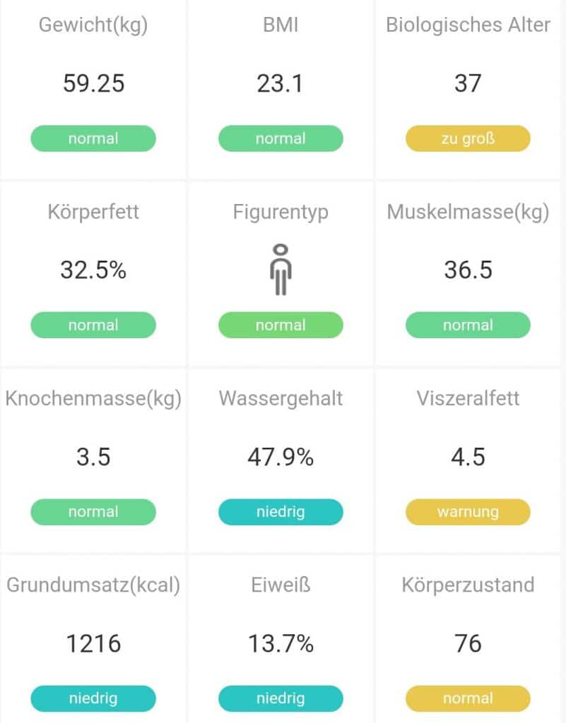 Smarte Waage Gewicht Körperfettanteil Phicomm Smart Scale 7