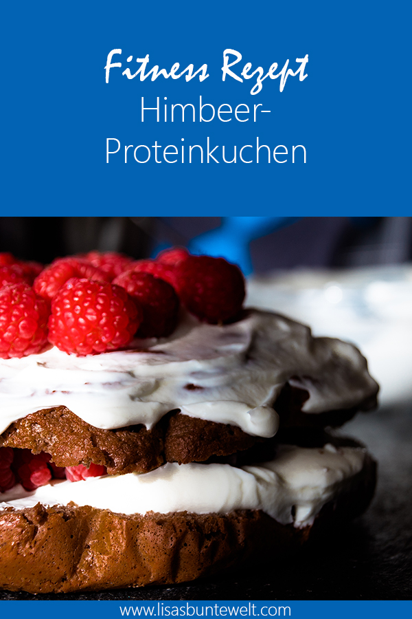 Fitness Rezept - Himbeer-Proteinkuchen ohne Zucker, Mehl und Butter. Gesund und lecker.