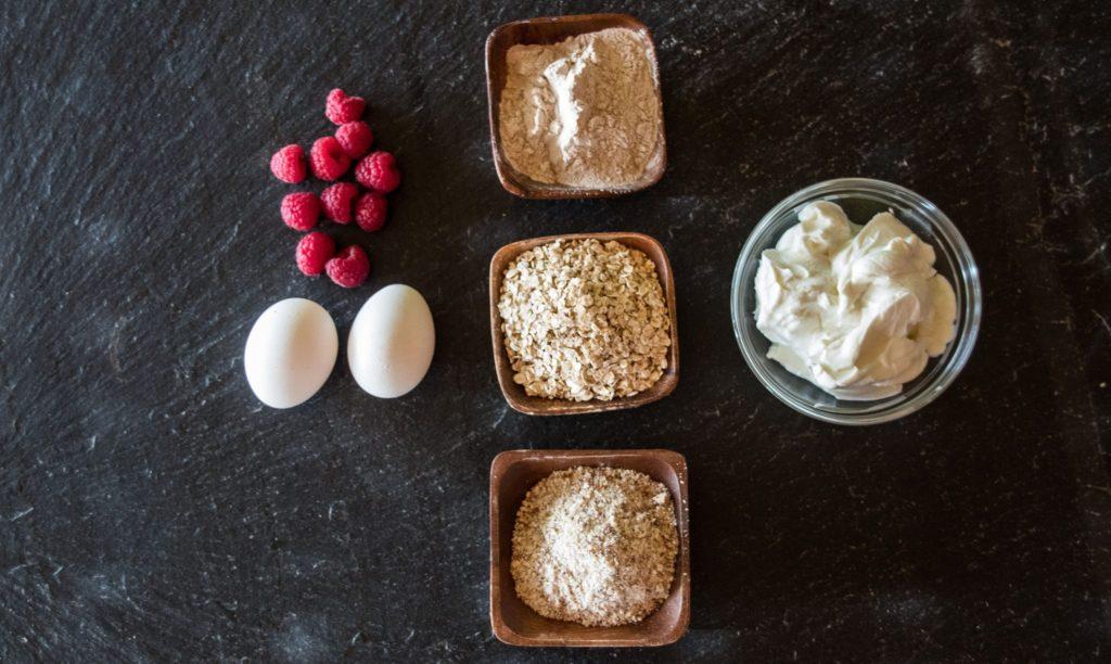 Protein-Himbeertorte - ohne Zucker, ohne Mehl, ohne Butter. Gesundes Rezept.