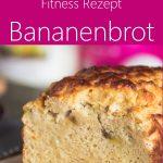 Protein Bananenbrot mit Haferflocken ohne Mehl und ohne Zucker - gesundes Fitnessrezept zum Abnehmen