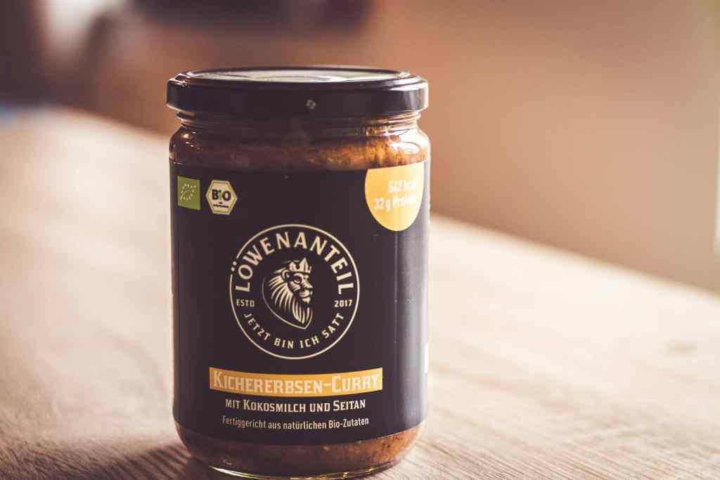Veganes, gesundes Fertiggericht von Löwenanteil: Kichererbsen-Curry