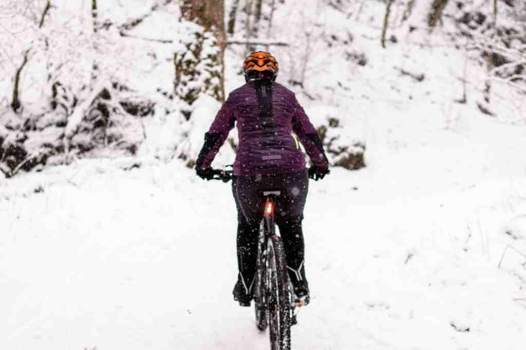 Radfahren Im Schnee Winter Beleuchtung