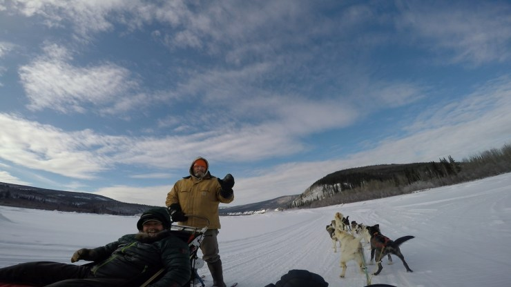 Jeff driving the dog sled!