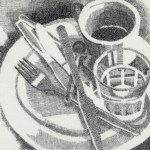 Prints Breakfast Marios Etching