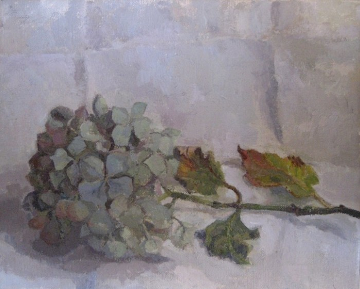 Hydrangea Branch Painting Oil
