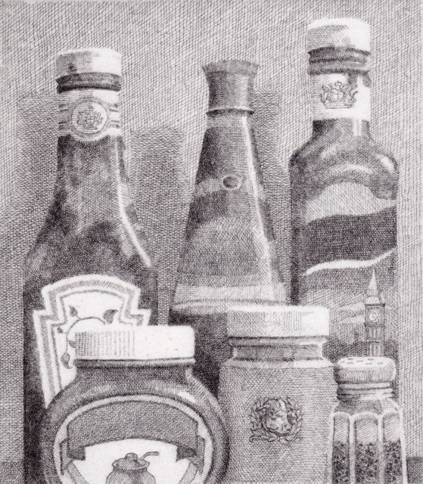 Prints Icons HP Sauce Colmans Sarsons Etching