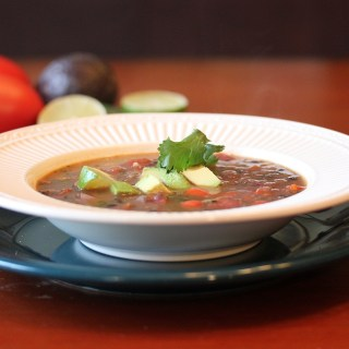 Re-fried Black Bean Soup