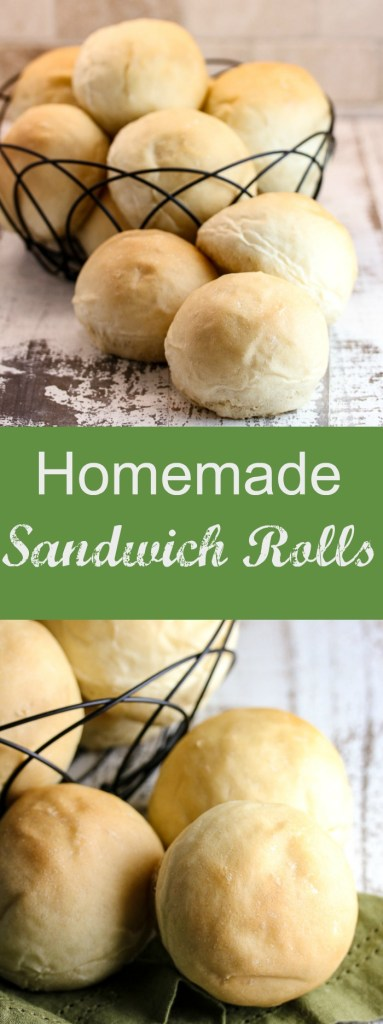 You will definitely want to stock your freezer with these homemade sandwich rolls. They're soft, tender and so perfect for almost any sandwich.