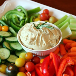 Rosemary and Garlic White Bean Dip