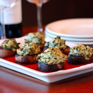 Spinach and Ricotta Stuffed Mushrooms