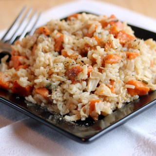 Turkey and Roasted Sweet Potato Risotto