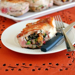 Oven Roasted Stuffed Pork Chops
