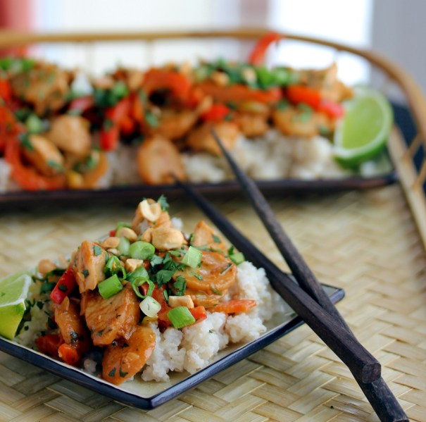 Chicken Stir Fry with Spicy Peanut Sauce - Lisa's Dinnertime Dish for ...