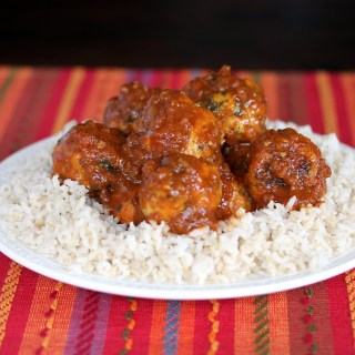 Turkey Meatballs in Curry Sauce