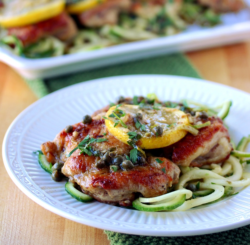 Chicken Piccata With Zucchini Noodles Lisas Dinnertime Dish