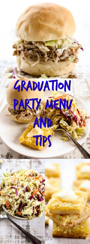 With my graduation party menu and tips, you'll have all the information you need to host a successful graduation party while keeping your stress level low!