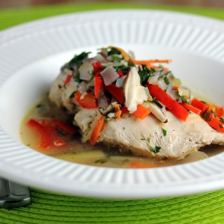 Poached Chicken and Vegetables