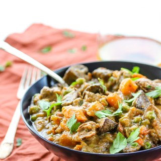 Lamb, Sweet Potato and Mushroom Stew
