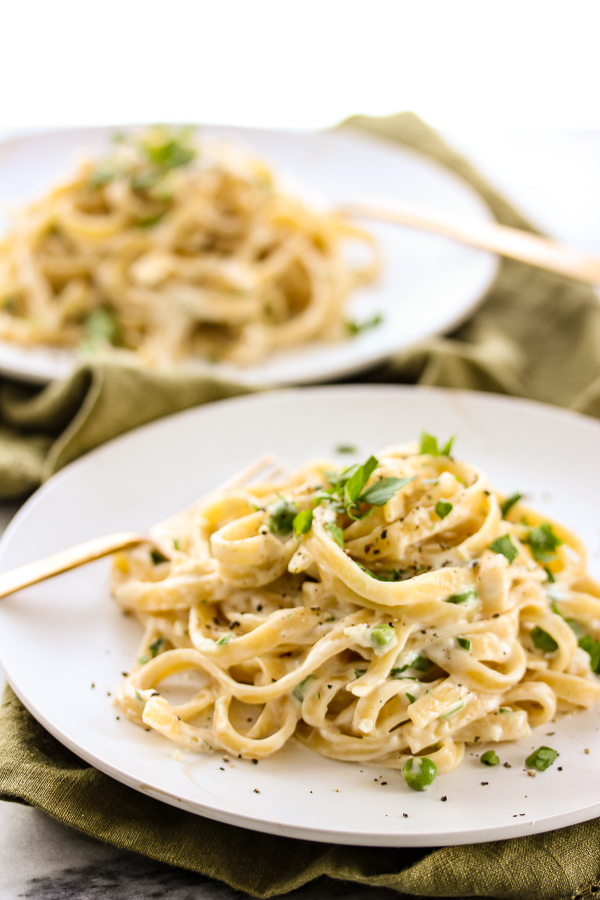With some easy swaps, skinny fettuccine alfredo is still full of creamy, garlicky, cheesy flavor but without all of the calories of a traditional alfredo sauce.
