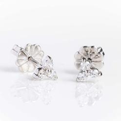 Desert-Diamonds---3-STONE-ROUND-STUD-EARRING-SILVER