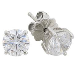 Desert-Diamonds---4-Prong-Brilliant-Solitaire-Stud-Earrings