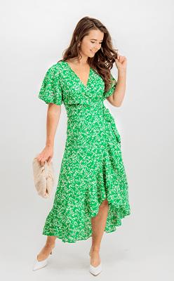 BORN---Briella-Green-Floral-Wrap-Dress