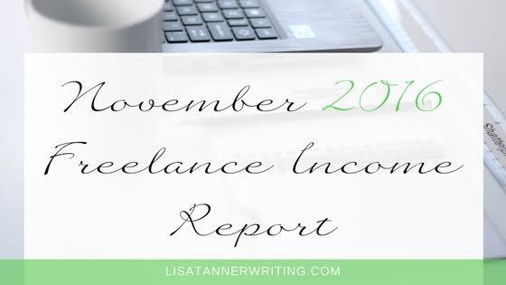 November 2016 Freelance Income Report