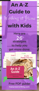 Tips to help you #workathome with kids.