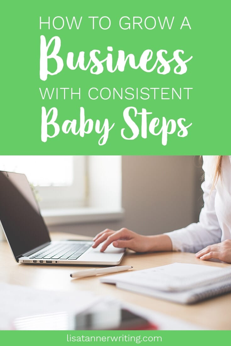 How to start a business with consistent baby steps #momboss #mompreneur