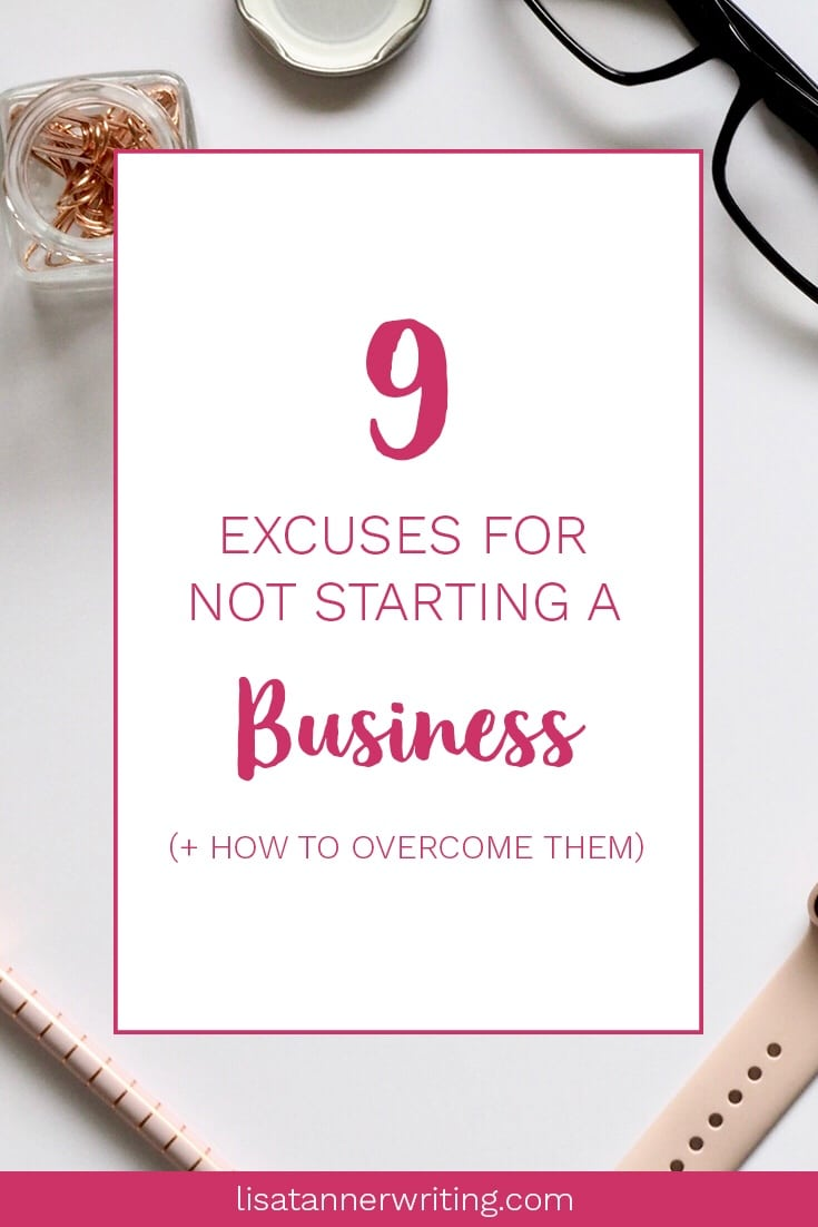 Are any of these excuses stopping you from starting a business as a mom? You can do this! #startabusiness #momboss