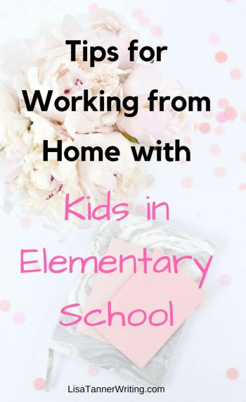 Here's how to rock working from home with a kid in elementary school. #workfromhome #WAHM