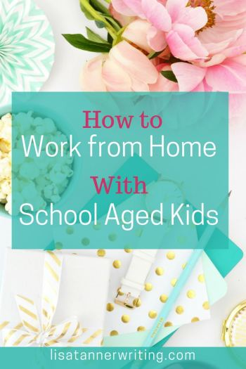 Are you trying to work from home with school aged kids? Here are some tips and tricks for making it happen. #momboss #mompreneurlife