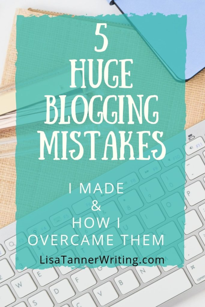 Here are five huge blogging mistakes bloggers make, plus how to fix them. #bloggingtips #bloggingmom