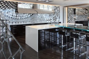 Lobby Counter Stools - Picture courtesy of Rob Bowen Design