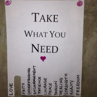 Take What You Need - Join the Spread of Good Will