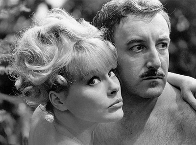 """Sommer and Sellers in """"A Shot in the Dark"""" (1964)"""