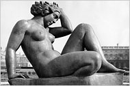 """The Mountain,"""" one of Maillol's depictions of Ms. Vierny"""