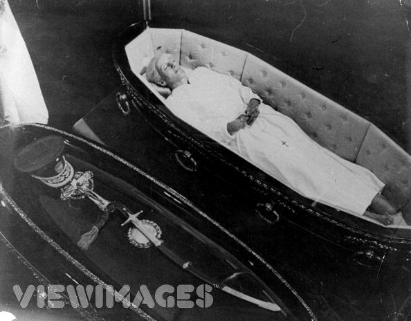 Bodies of Juan and Eva Peron Lying in State (c. 1974-76)