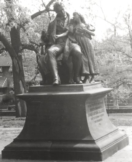 Thomas Gallaudet sculpture by Daniel Chester French