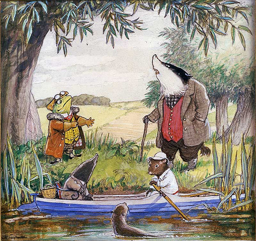 The Wind in the Willows illustration by E.H. Shepard