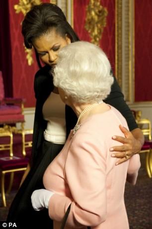 Michelle Obama with Queen Elizabeth