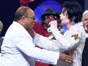 Quincy Jones with Michael Jackson 2001
