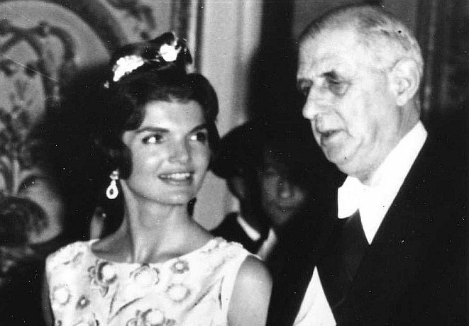 Jackie Kennedy with French President, Charles de Gaulle, June 1, 1961