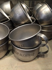 Tin cups from Alcatraz